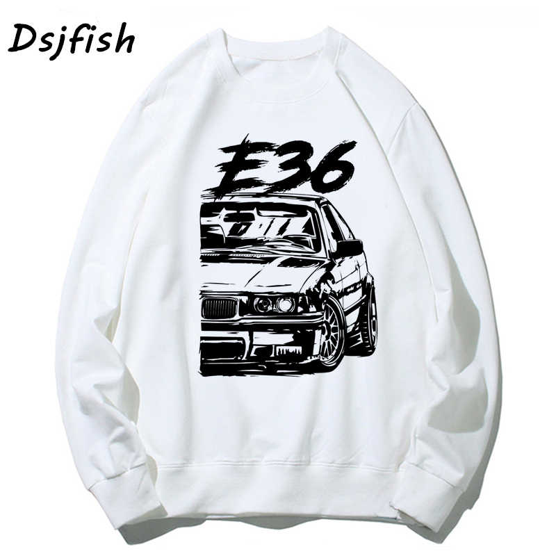 Sweat à capuche pour homme Cool voiture de course automobile Turbo E30 E36 E46 sweats pour unisexe basique Vintage sweat à capuche streetwear Sudadera Mujer