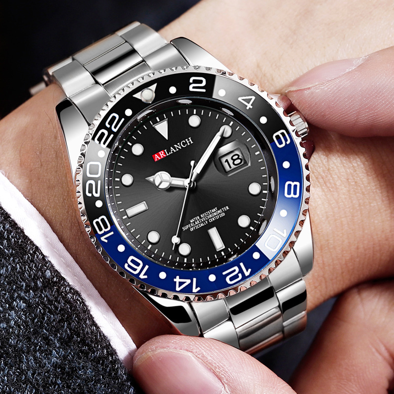 Rolexable Watches Men Top Luxury Brand Sport Watch Men Quartz Clock Male Military Steel Waterproof Wrist Watch Relogio Masculino