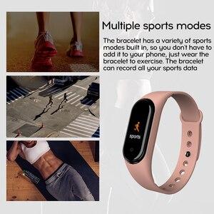 Image 4 - M4 חכם צמיד כושר גשש שעון ספורט צמיד קצב לב צג לחץ דם בריאות שעון Smartband עבור אנדרואיד iOS