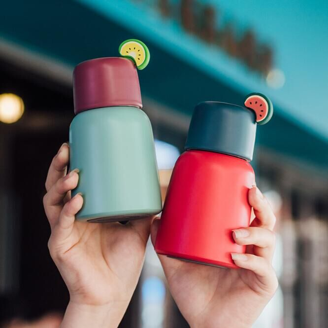 Fashion Mini Cute 250ML Coffee Vacuum Flasks Thermos Stainless Steel Travel Drink Water Bottle Thermoses Cups and Mugs HOT SALE!