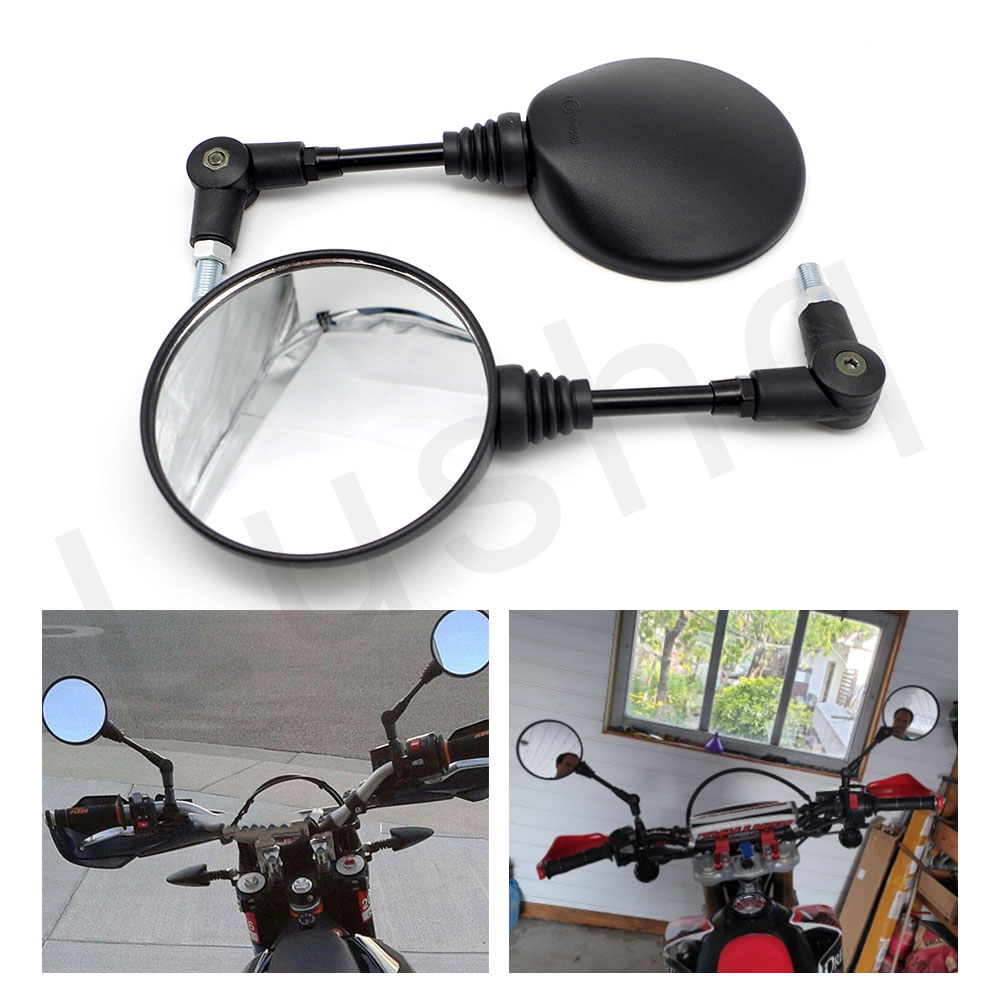 2pcs 10mm Motorcycle Rearview Mirror for ducati scrambler dr650 husqvarna enduro bmw c650 sport r1200r moto accessories image