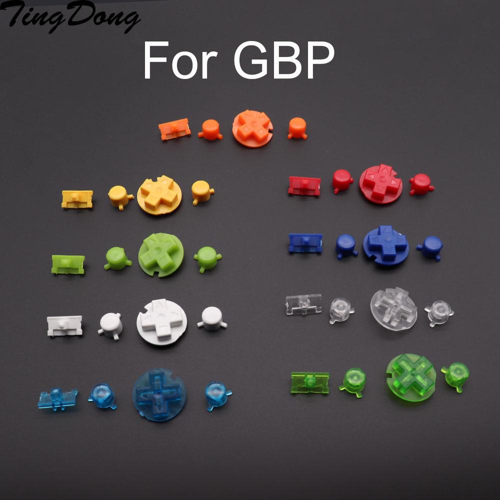 Multi Color Option A B Buttons Keypads For Gameboy Pocket GBP On Off Power Buttons For GBP D Pads Power Buttons