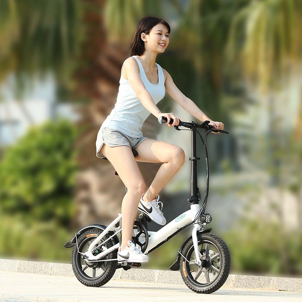 Aluminum Folding EBike with Pedals, Power Assist, 36V 250Wh, 7.8AH Lithium Ion Battery; Electric Bike with 14 INCH WHEEL D3