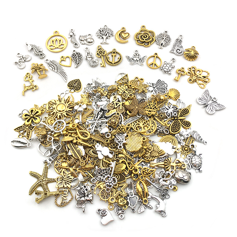 Vintage Mixed 10/20pcs Metal Animal Fishstar Charms Beads DIY For Bracelet Clips Handmade Pendant Neacklace  Jewelry Findings