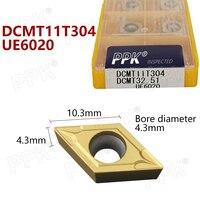 10pcs DCMT11T304 DCMT32.51 UE6020 hardmetalen wisselplaten Interne draaigereedschap DCMT 11T304 Draaibank Gereedschap cutter CNC tool-in Draaigereedschap van Gereedschap op