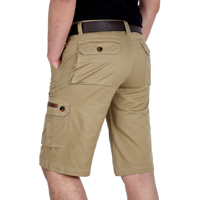 Summer MEN'S Shorts Plus-sized MEN'S Fifth Pants Middle-aged Bags Bib Overall Men's High-waisted Shorts