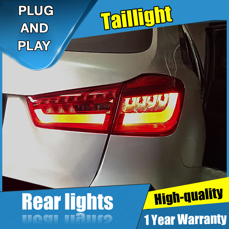 4 шт. автомобильный Стайлинг для Mitsubishi ASX задние фонари 2013 2015 для ASX светодиодные задние лампы + сигнал поворота + тормоз + задний светодиодный