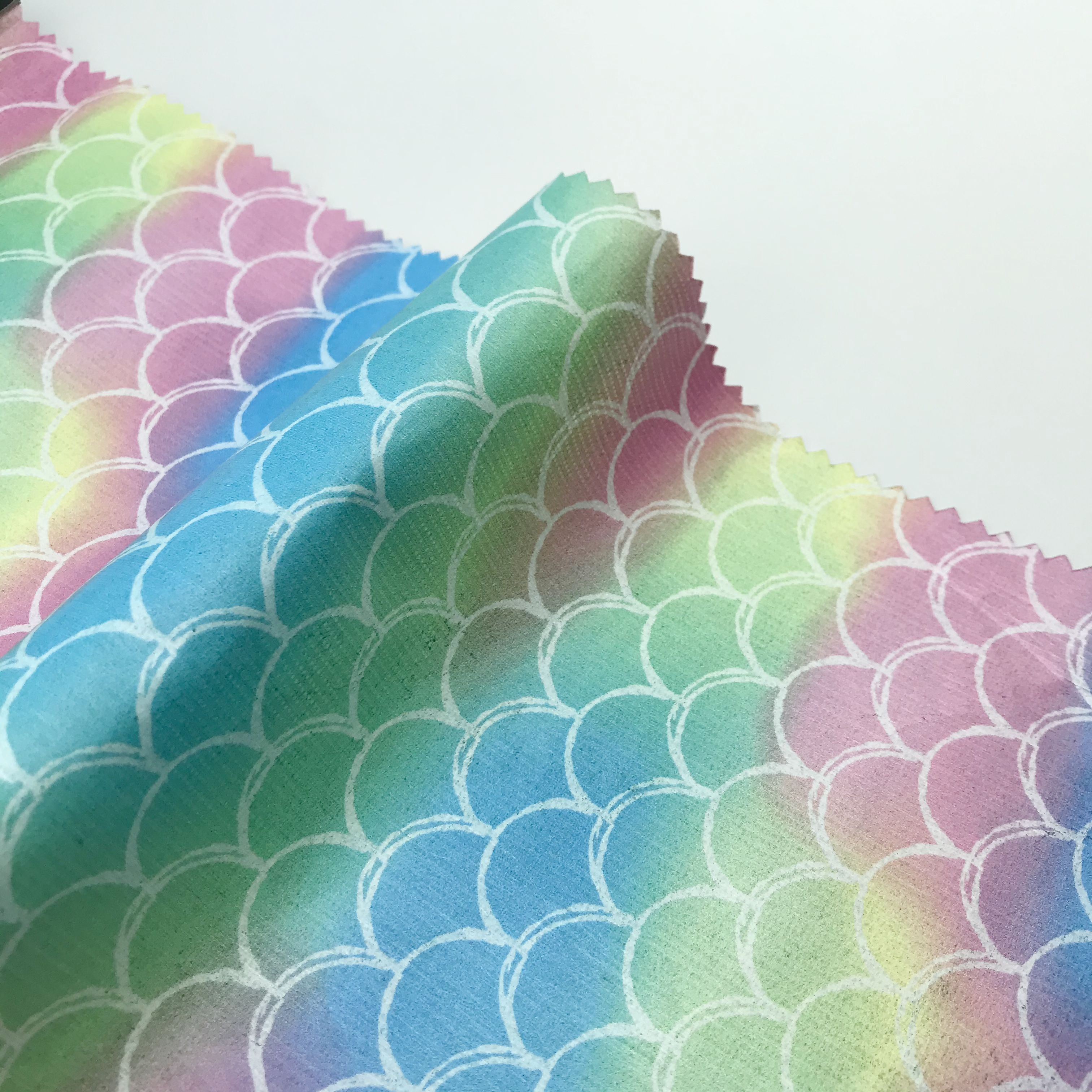 Balık terazi baskı çevre dostu solunum kağıt kumaş kağıt suya dayanıklı yağmurluk, konfeksiyon, dekorasyon, DIY T20061912