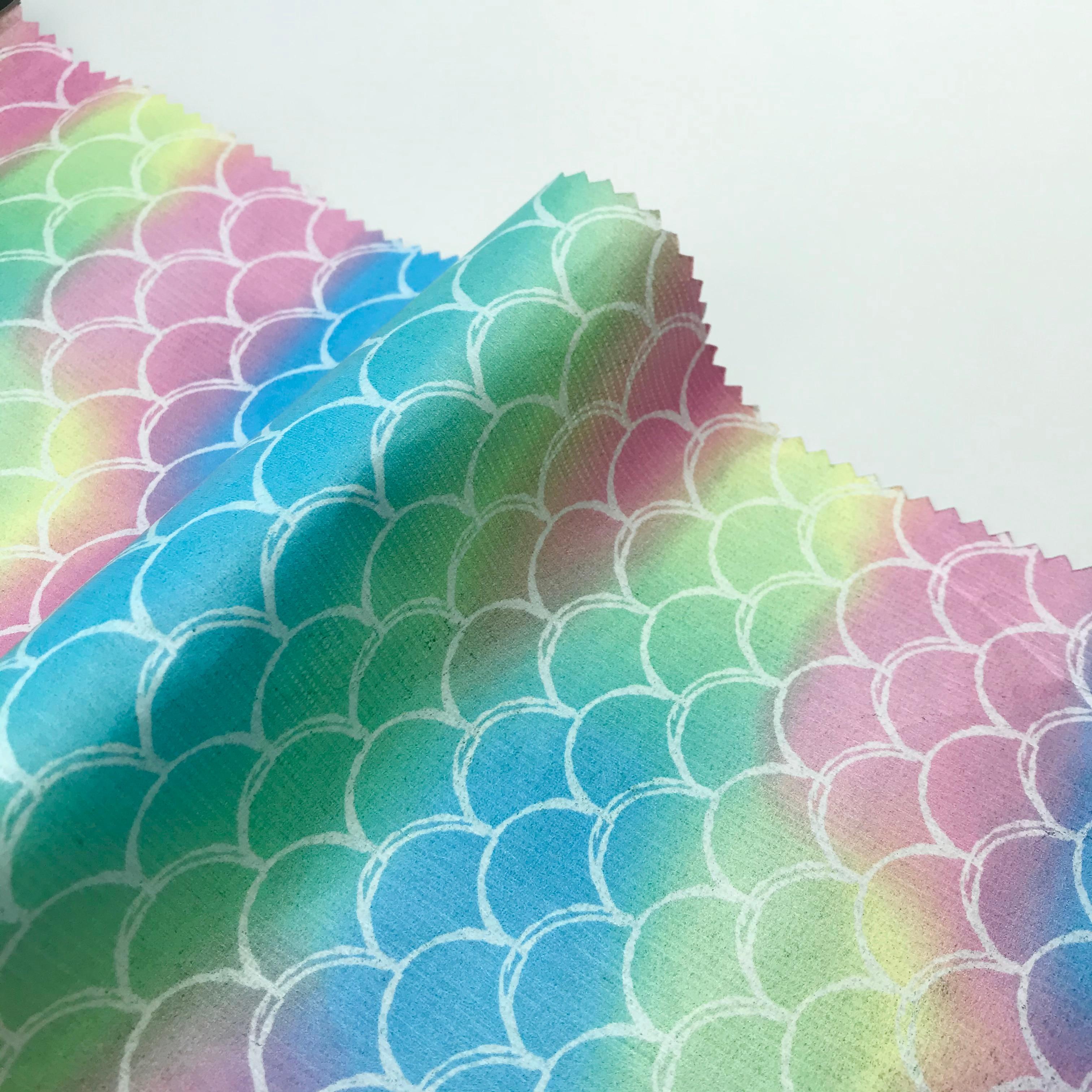 Parlak balık terazi tasarımcı kumaş solunum kağıt kumaş kağıt kumaş tyvek kumaş yağmurluk COSPLAY bez bebek bezi DIY BagHat