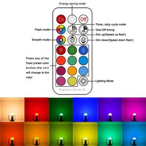 Image 5 - Rgbw Led Lamp 21key Infrarood Controller Smart Bulb Lamp Multicolor Dimbare Kleur Veranderende Led Nachtlampje Ac 110V/220V