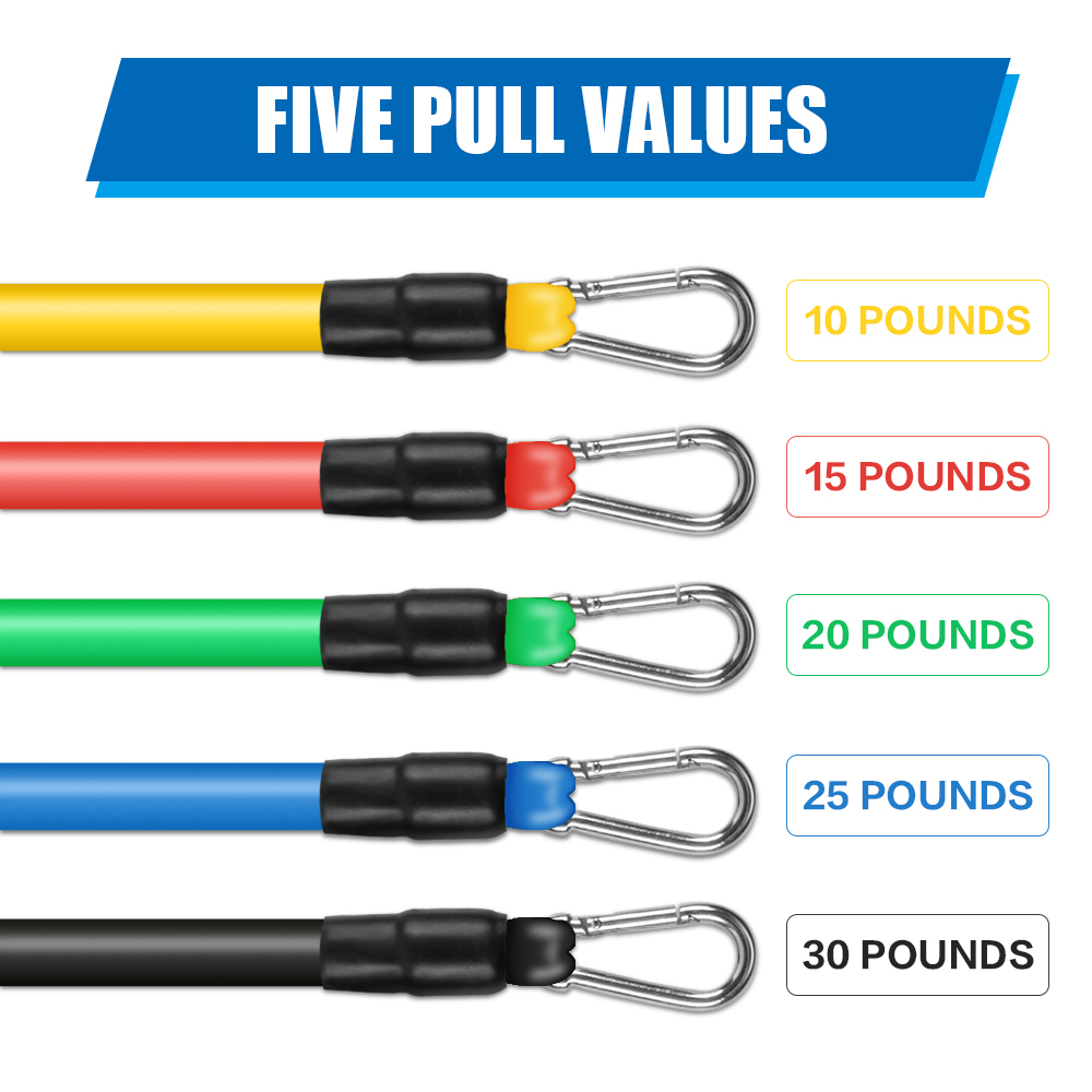 11PCS/ 13PCS Fitness Resistance Bands Workout Exercise Yoga Set Fitness Tube Yoga Stretch Training Home Gyms Elastic Pull Rope 3