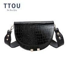 Ttou Ретро сумка через плечо с крокодиловым узором Крокодиловая
