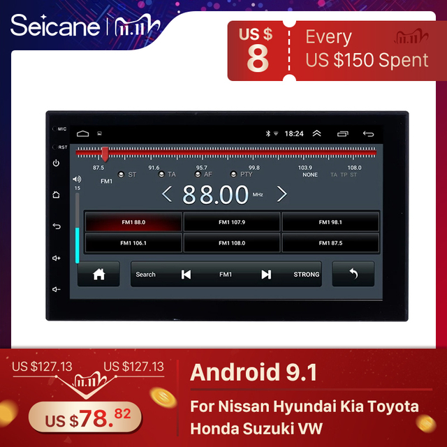 Seicane 2GB RAM 32GB ROM Android 9.1 2Din Universal Car Radio  GPS Multimedia Player For TOYOTA Nissan Kia RAV4 Honda VW Hyundai