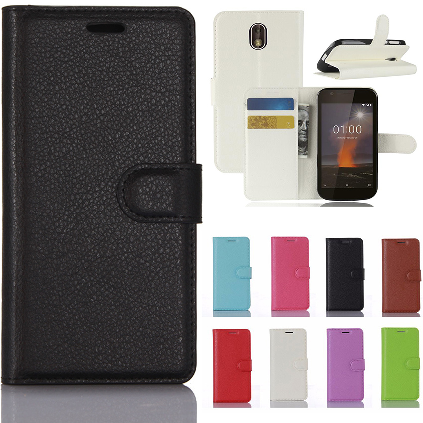 For <font><b>Nokia</b></font> Case <font><b>Nokia</b></font> 1 Luxury Flip Case PU Leather Phone Cover Case For <font><b>Nokia</b></font> 1 TA-<font><b>1047</b></font> GY347 image