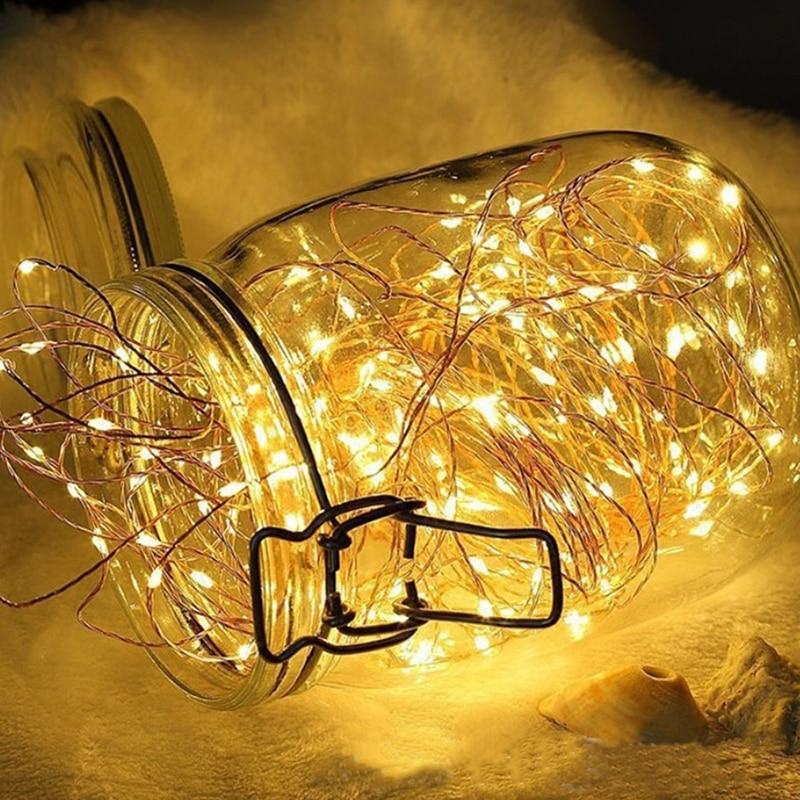 Practical 1m/2m/3m LED String Light Battery 10/20/30LED Led Copper Wire Lamp Shape Lamp String New Arrival