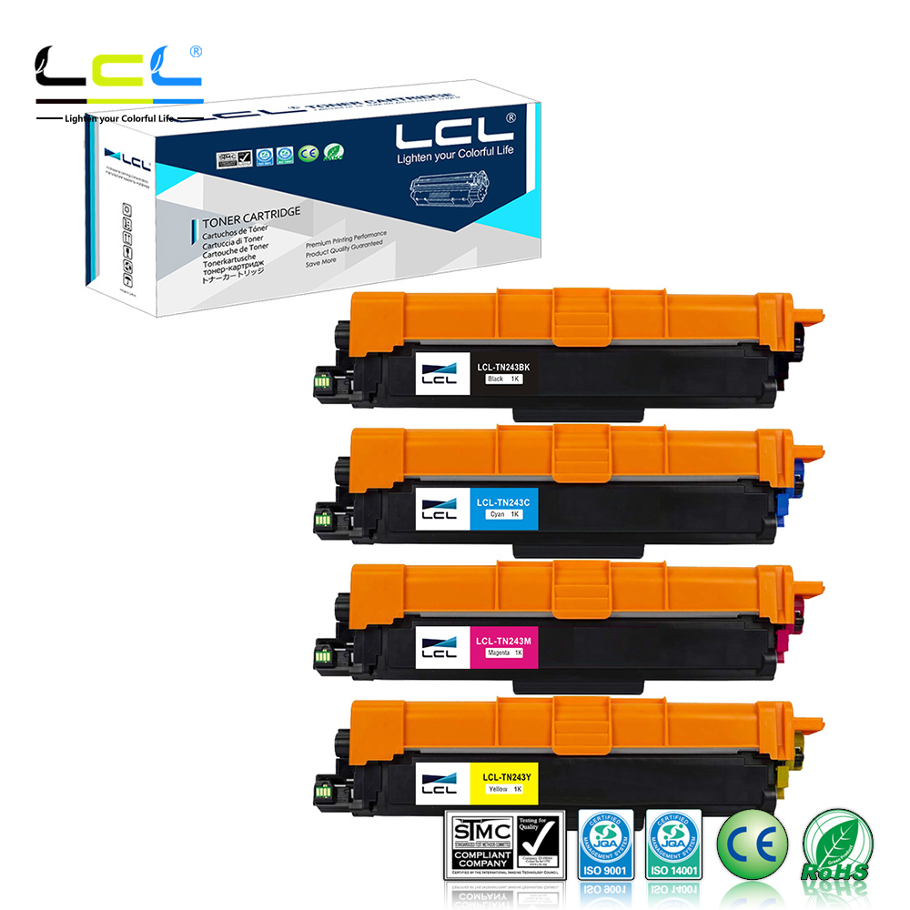 LCL  TN243 TN-243 TN-243BK  TN243C M Y 1000Pages(4-Pack KCMY) Toner Cartridge Compatible For Brother HL-L3210CW HL-L3230CDW