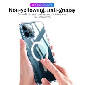 Image 4 - יוקרה מגנטי מקרה עבור iPhone 11 12 פרו מקס מיני XS XR X 10 נייד טלפון כיסוי ברור פגז TPU רך סיליקון עמיד הלם פגוש