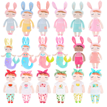 Official METOO Plush Angela Dolls Girl Wear Skit  Gift Toys for Kids Children Stuffed Toys for Gifts 12*4