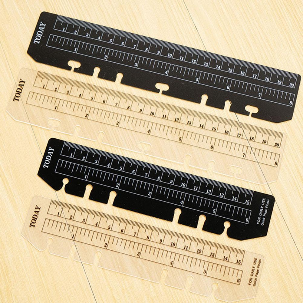 1 Pcs PVC Ruler Notebook Index Page PVC Loose-leaf Different A5/A6/A7 6 Holes Page Ruler Separator Bookmark Multi-function O5Z2
