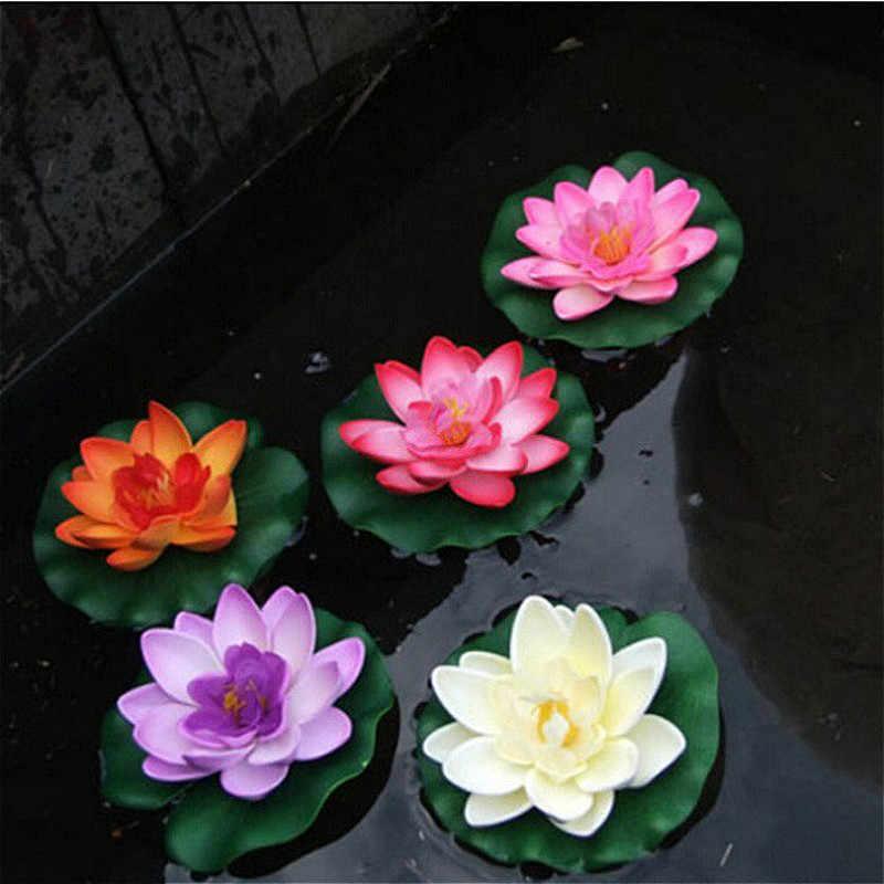 Suef 1 個送料無料人工蓮スイレンフローティングフラワー池タンク植物飾り 10 センチメートル家庭の池装飾 @ 2