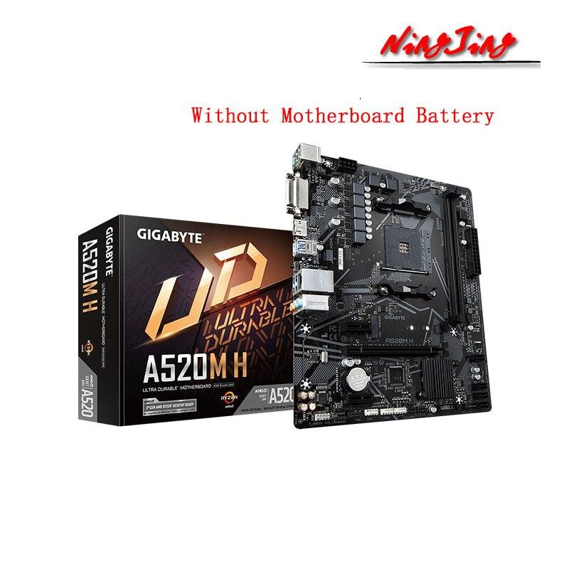 Gigabyte ga a520m h micro atx amd a520 ddr4 m.2 usb3.2 stat 3.0 ssd/novo/64g melhor suporte r9 desktop cpu soquete am4 placa-mãe