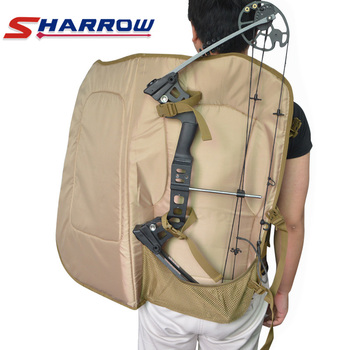 Sharrow Compound Bow Bag 600D Nylon Camouflage Printing Backpack for Hunting Shooting