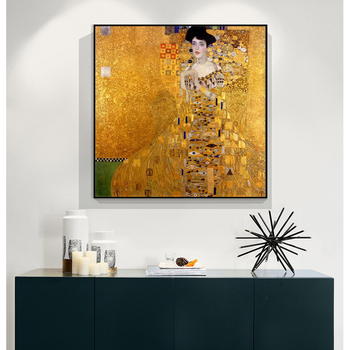Gustav Klimt Kiss Art Oil Painting Replica on Canvas Posters and Prints Portrait of Adele Bloch Wall Picture for Living Room image