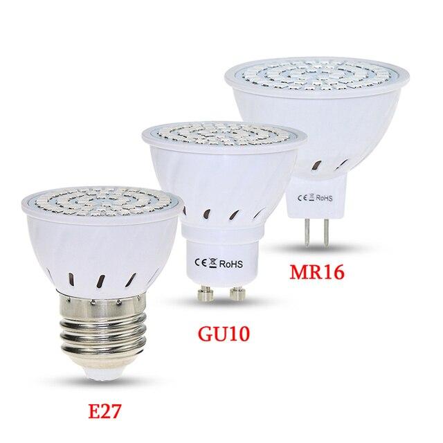 E27 220V 48//60//80LED Grow Light Full Spectrum Indoor Fitolampy Phyto Lamp