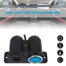 цена на High Quality Car Cigarette Cable  12V/24V Car Cigarette Lighter Socket Splitter Dual USB Charger Power Adapter For Mobile Phone