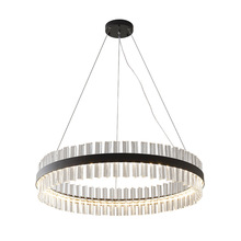 Modern Chandelier LED Nordic Crystal Circular Art Exhibition Hall Dining Room Hotel Glass