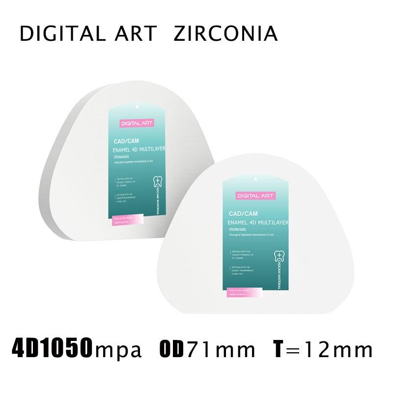 digitalart amann girrbach zirconia 4d restauracao dental multicamadas blocos de zirconia cad cam sirona 4dmlag71mm12mma1 d4
