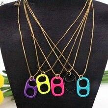 Charm Pendant Soda-Cap Two-Holes Handmade Jewelry Necklace Fashion Colorful Trendy 10PCS