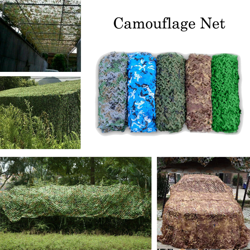 2x3 3*3 3x4 3x5 4x5 4x6m 5x6m 150D Oxford Camouflage Net Camping Sun Shelter <font><b>Outdoor</b></font> <font><b>Car</b></font>-covers Camo Hunting image