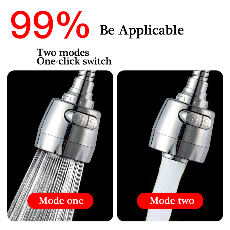 Kitchen Faucet Aerator 2/3 Modes 360 Degree Adjustable Water Filter Diffuser Water Saving Nozzle Faucet Connector Lengthen