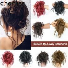 Messy Bun Ponytails-Resistance Scrunchie-Wrap Hair-Rope Chignons Synthetic Women Chorliss