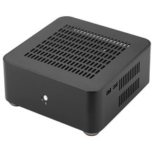 L80S Computer Cases Aluminium Chassis Desktop Mainframe mit Usb 3,0 Port Hohl für Spiel Chassis Diy Mini Pc Itx Fall schwarz(China)