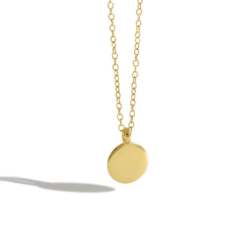 Geometric Double round Necklace Thin Necklace Chain Necklace Gold plated Necklace Women Necklace Jewel Necklace Dainty Necklace