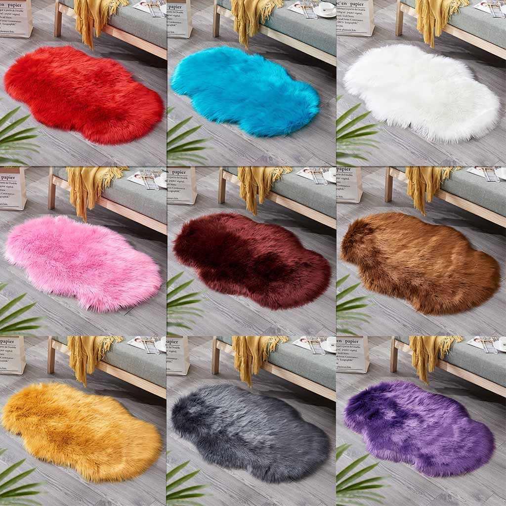 laine imitation peau de mouton tapis