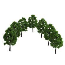 20 шт. пластиковая модель поезд искусственная миниатюра дерево Декорации железная дорога украшение здание пейзаж аксессуары игрушки для де...