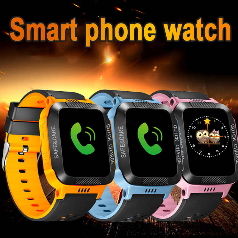 Waterproof Smart Watch LBS SOS Camera For Kids Safe SIM Call Baby Wristwatch Alarm Clock Gift For Children GPS PK DZ09 GT08 A1