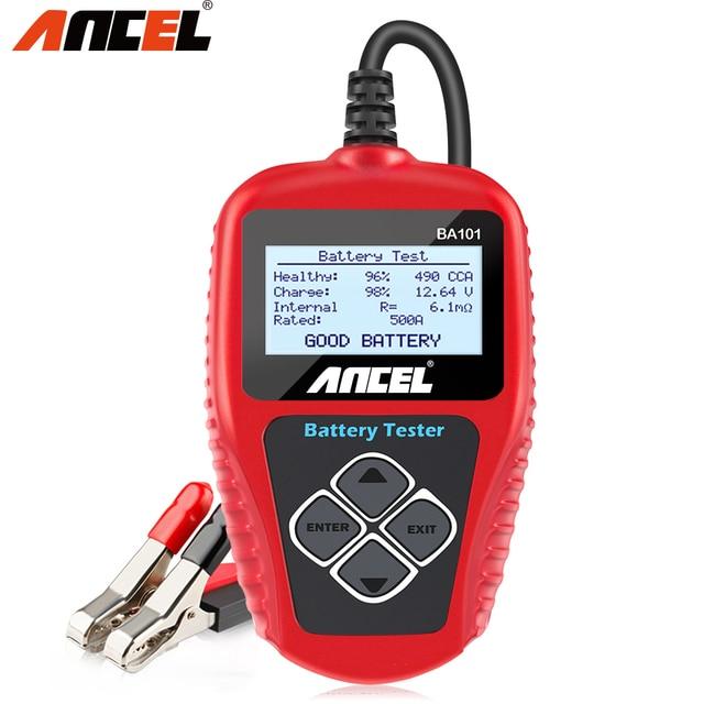 Ancel BA101 12V Car Battery Tester 100 2000CCA Digital Analyzer tester auto battery load tester for Car/Boat/Motorcycle PK KW600