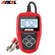 Ancel BA101 12V Tester akumulatora samochodowego 100 2000CCA analizator cyfrowy tester dla akumulatorów samochodowych tester obciążenia dla samochodu/łodzi/motocykla PK KW600