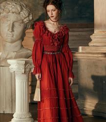 Сексуальное длинное платье, хлопковая ночная рубашка, свадебная ночная рубашка с длинными рукавами, ночное белье, Дамское Платье Королевы д...