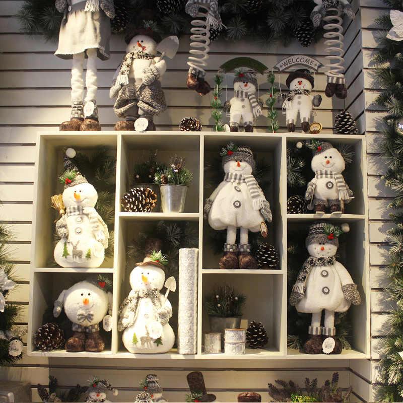 Pupazzo di neve Di Natale Hotel Mall Contatore Dress Up Vecchio Figurine Altalena Pupazzo di Neve