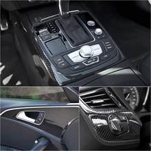 Film vinylique brillant en Fiber de carbone 7D, 8x60 pouces, pour voiture, autocollant, couverture, garniture, accessoire de décoration