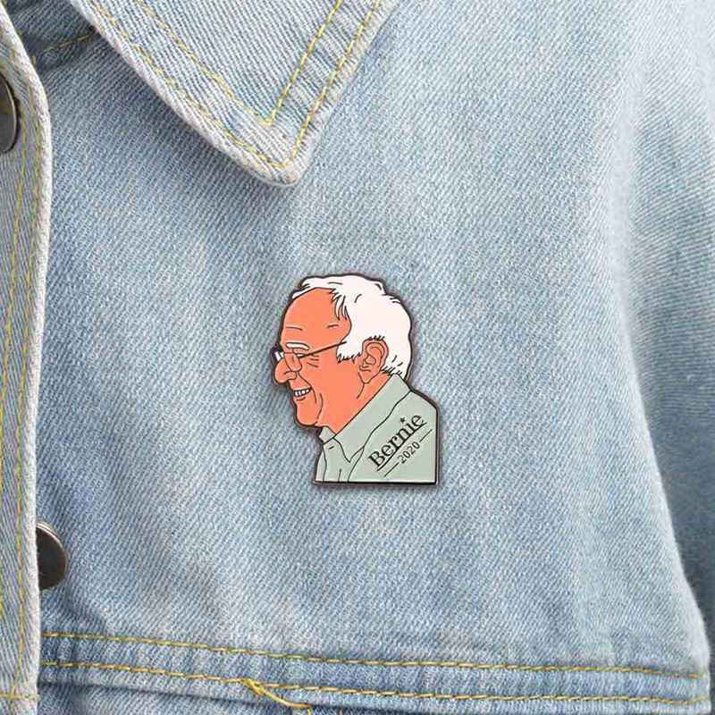 Nos las elecciones de 2020 broche de Bernie Sanders, las elecciones presidenciales de 2020 pin con distintivo hebilla aguja de cuello ropa flor broches