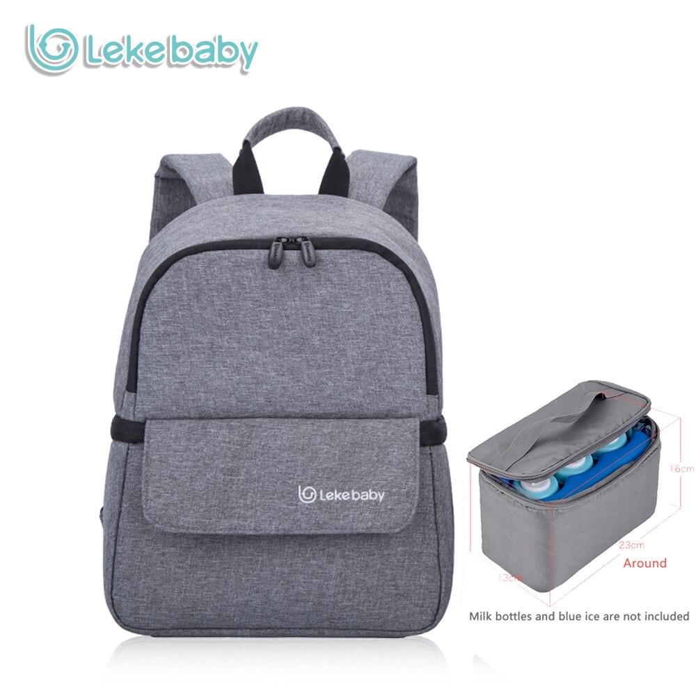 Lekebaby-stockage du lait maternel | Bouteille de bébé isolé maman, sac à langer couches à langer, sac à dos pour maman organisateur
