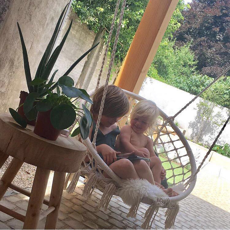 Round Hammock Swing Hanging Chair Outdoor Indoor Dormitory Bedroom Hanging Chair For Child Adult Safety Hammock with accessories