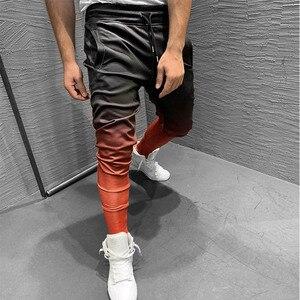 Image 3 - Pantalones de chándal con gradiente para hombre, ropa deportiva, culturismo, otoño