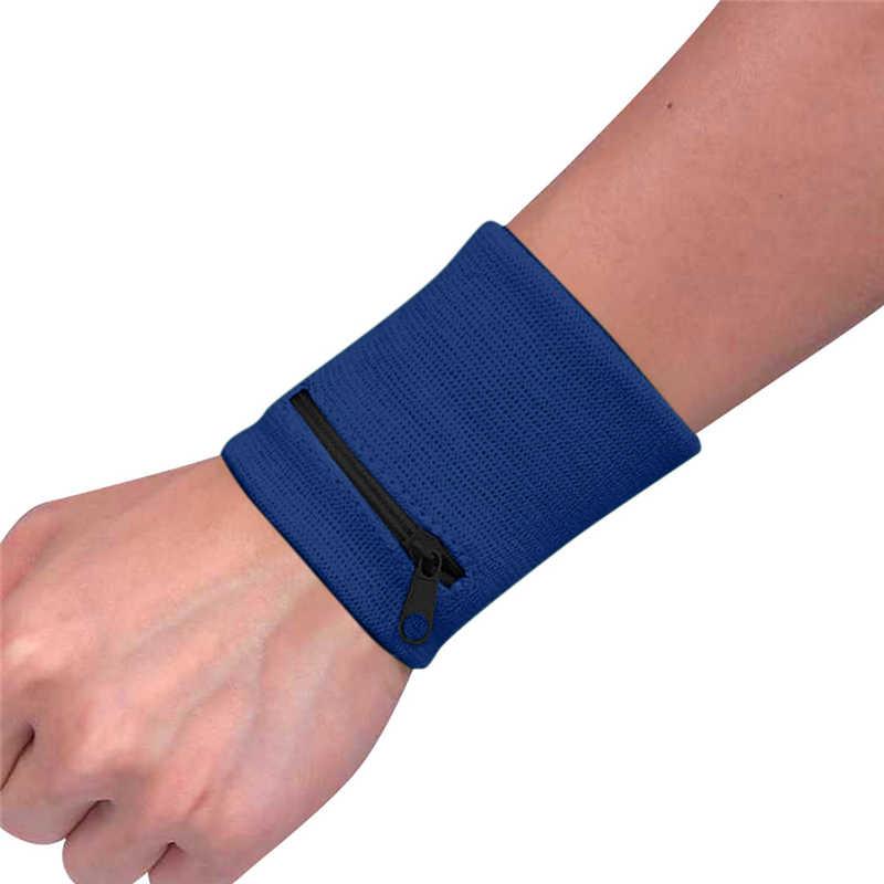 Pulso carteira bolsa banda zíper correndo viagem ginásio ciclismo seguro saco de desporto suporte de pulso pulseiras esportivas cinto a40